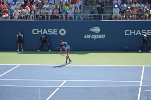 racquet face to the sky